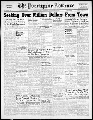 Porcupine Advance, 22 Jan 1942