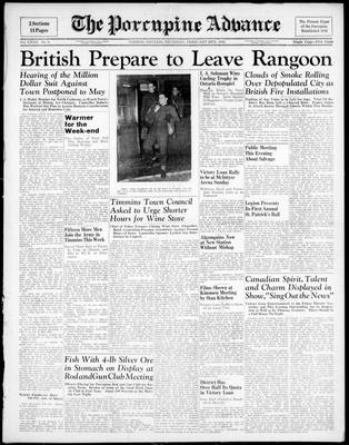 Porcupine Advance, 26 Feb 1942
