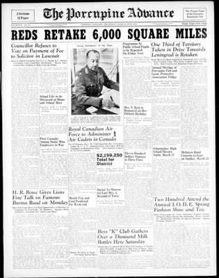 Porcupine Advance, 19 Mar 1942