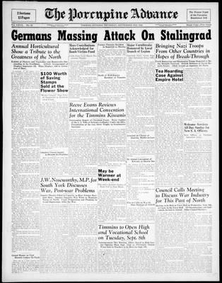 Porcupine Advance, 3 Sep 1942