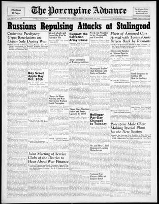 Porcupine Advance, 1 Oct 1942
