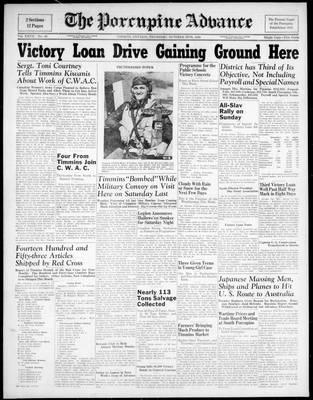 Porcupine Advance, 29 Oct 1942