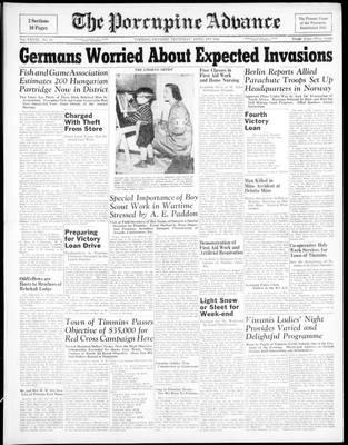 Porcupine Advance, 1 Apr 1943