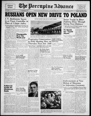 Porcupine Advance, 13 Jan 1944