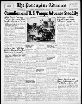 Porcupine Advance, 10 Aug 1944