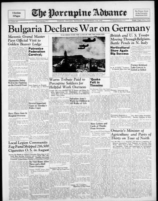 Porcupine Advance, 7 Sep 1944