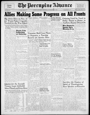Porcupine Advance, 19 Oct 1944