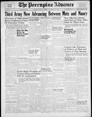 Porcupine Advance, 9 Nov 1944