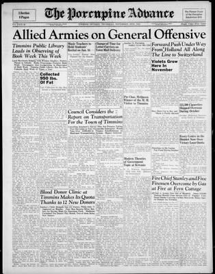Porcupine Advance, 16 Nov 1944