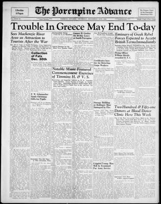 Porcupine Advance, 14 Dec 1944