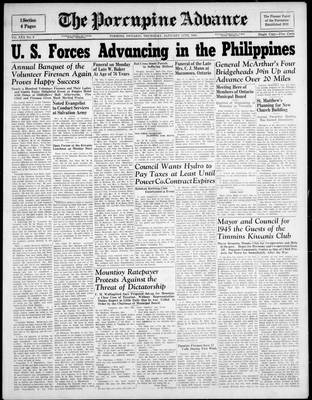 Porcupine Advance, 11 Jan 1945