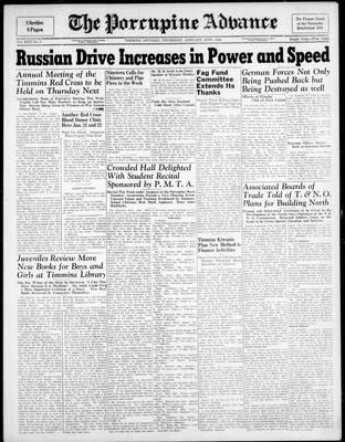 Porcupine Advance, 18 Jan 1945