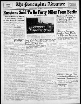 Porcupine Advance, 1 Feb 1945