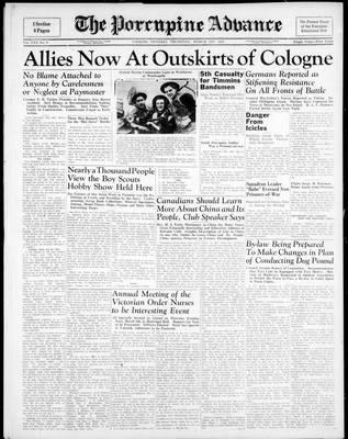 Porcupine Advance, 1 Mar 1945