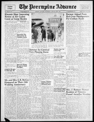 Porcupine Advance, 30 Aug 1945