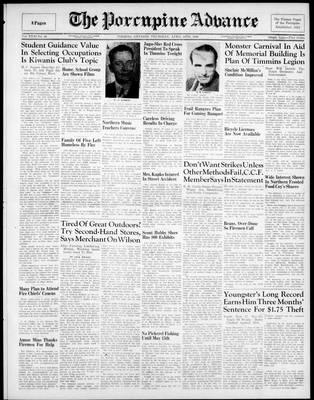 Porcupine Advance, 18 Apr 1946