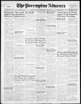 Porcupine Advance, 9 May 1946