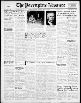 Porcupine Advance, 16 May 1946