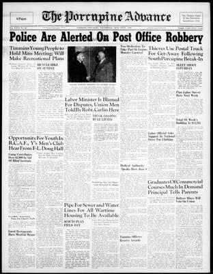 Porcupine Advance, 30 May 1946