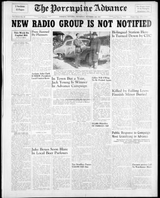 Porcupine Advance, 2 Oct 1947