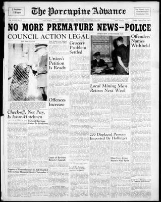 Porcupine Advance, 30 Oct 1947