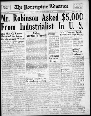Porcupine Advance, 18 Mar 1948