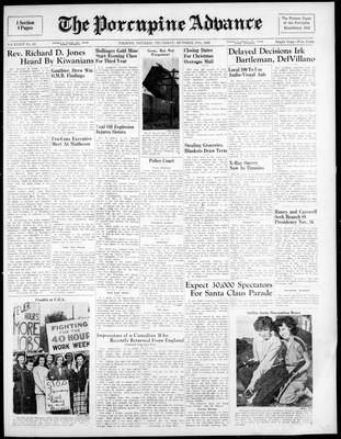 Porcupine Advance, 27 Oct 1949