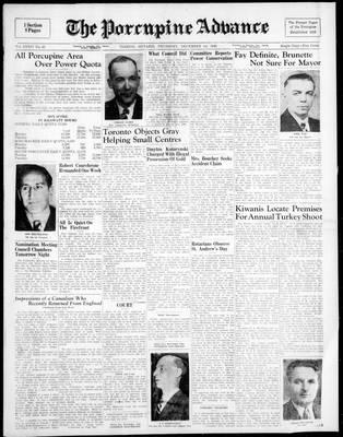 Porcupine Advance, 1 Dec 1949