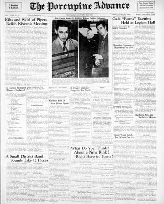 Porcupine Advance, 26 Jan 1950