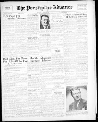 Porcupine Advance, 18 May 1950