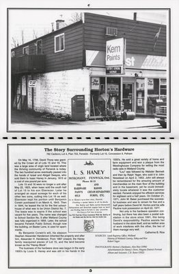 """Pelham Historical Calendar 1997: """"The Story Surrounding Horton's Hardware"""""""