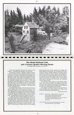 "Pelham Historical Calendar 1995: ""The Model Railroad Club and a Former Quaker Meeting House"""