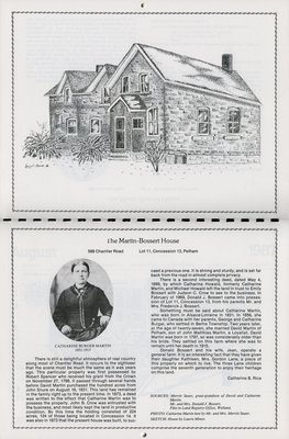 "Pelham Historical Calendar 1987: ""The Martin-Bossert House"""