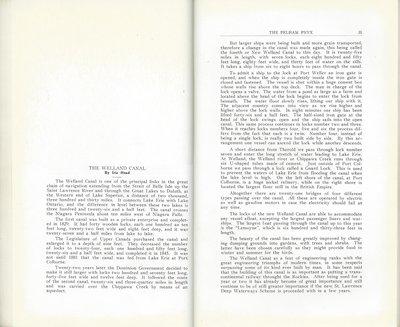 Pelham Pnyx 1933 - The Welland Canal
