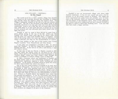 Pelham Pnyx 1933 - Our Village -- Fonthill