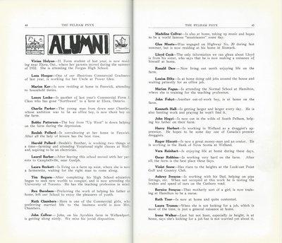 Pelham Pnyx 1933 - Alumni