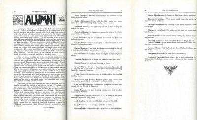Pelham Pnyx 1935 - Alumni