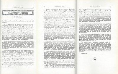 Pelham Pnyx 1935 - Valedictory Address