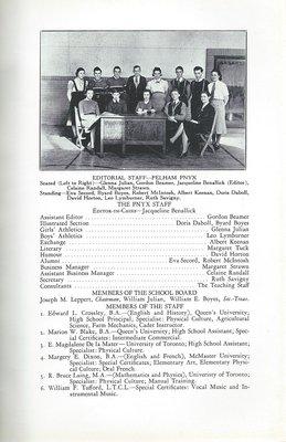 Pelham Pnyx 1939 - Editorial Staff and School Staff
