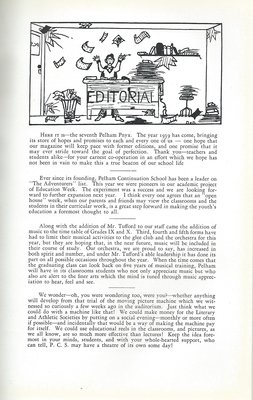 Pelham Pnyx 1939 - Editorial
