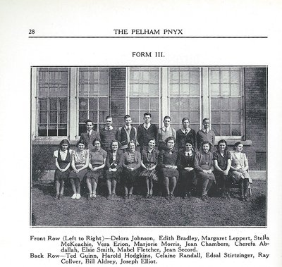 Pelham Pnyx 1939 - Class Photograph of Form III