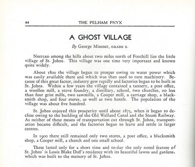 Pelham Pnyx 1939 - A Ghost Village