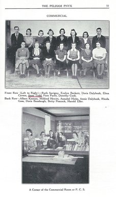 Pelham Pnyx 1939 - Photograph of Commercial Class and Classroom
