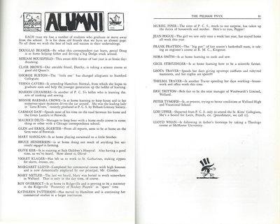 Pelham Pnyx 1939 - Alumni