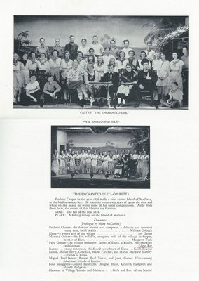 """Pelham Pnyx 1940 - Cast of """"The Enchanted Isle"""" Photographs and Credits"""