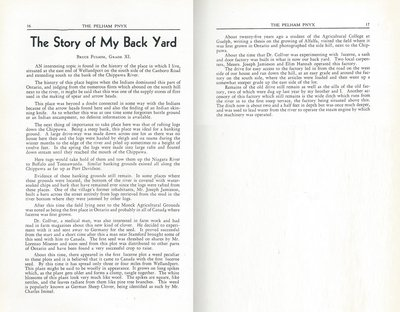 Pelham Pnyx 1942 - The Story of my Backyard