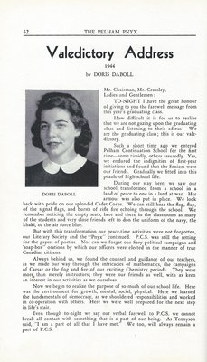 Pelham Pnyx 1943-44 - Valedictory Address