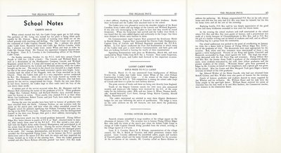 Pelham Pnyx 1943-44 - School Notes on the Cadets and the Return of PCS Student, Flying Officer Edgar Ker