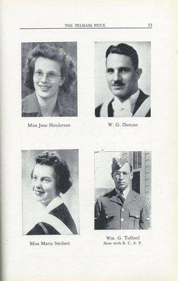 Pelham Pnyx 1943-44 - Photographs of PCS Staff
