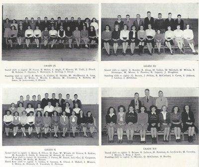 Pelham Pnyx 1947 - Class Photographs of Grade IX, Grade X, Grade XI, and Grade XII
